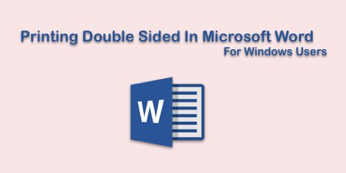 Print Double Sided Document In Microsoft Word