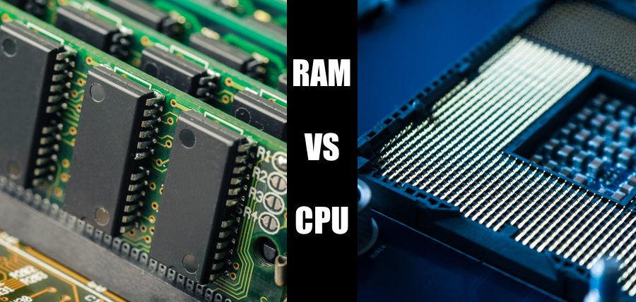 Difference between RAM and CPU